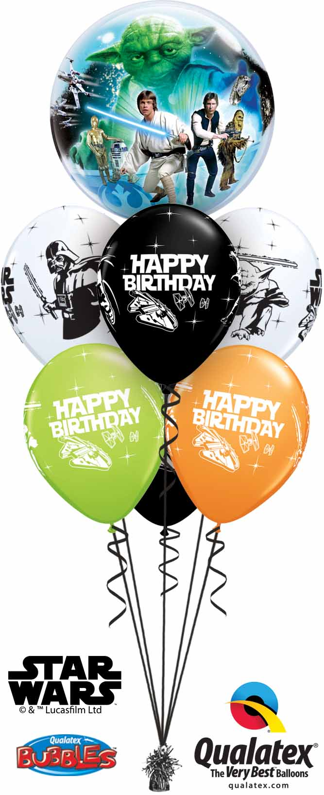 10474 18669 Star Wars Birthday Bubble Luxury