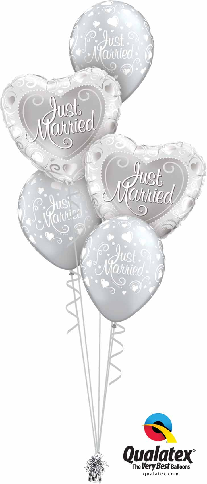 15816 18653 Just Married Hearts Classic
