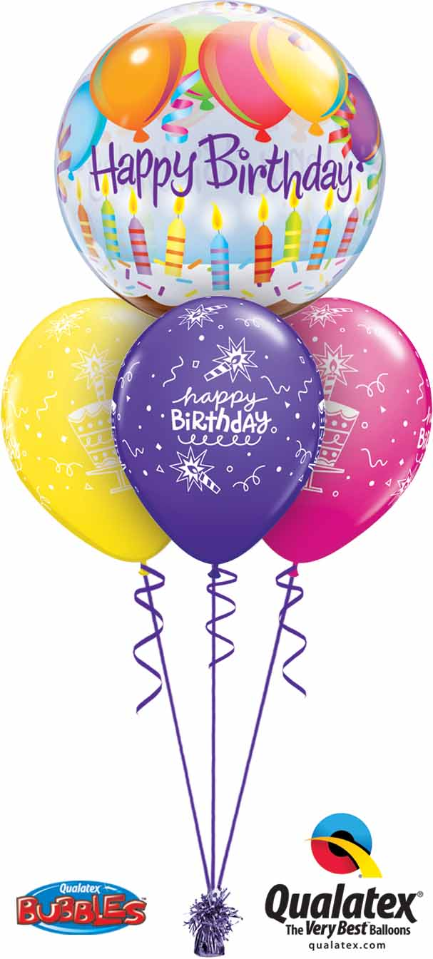 25719 18374 Birthday Balloons & Candles Bubble Layer