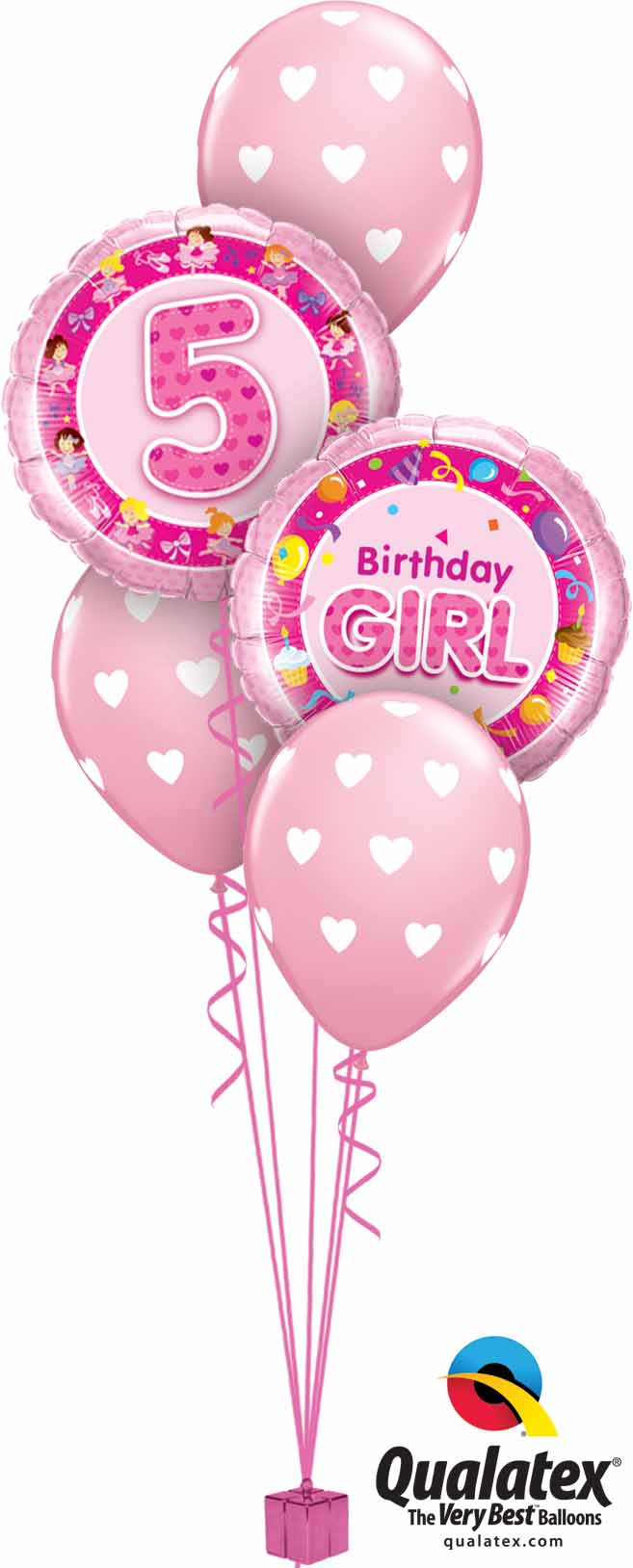 26315 26273 18078 5th Birthday Girl Hearts Classic