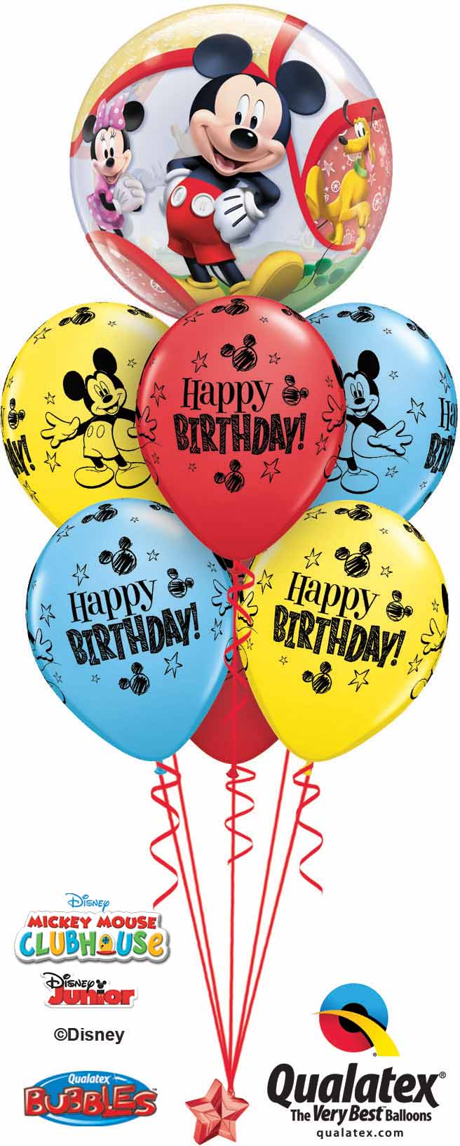 41067 18704 Mickey Mouse Birthday Bubble Luxury