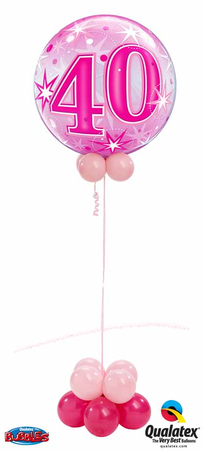 43125 40 Pink Sparkle Bubble