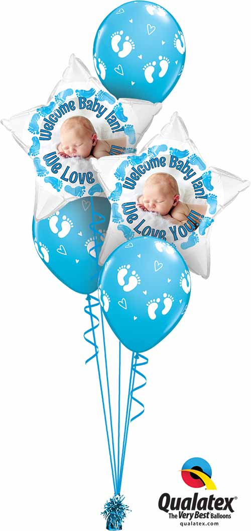 MyBalloon 45652 Baby Boy Feet Ian Classic