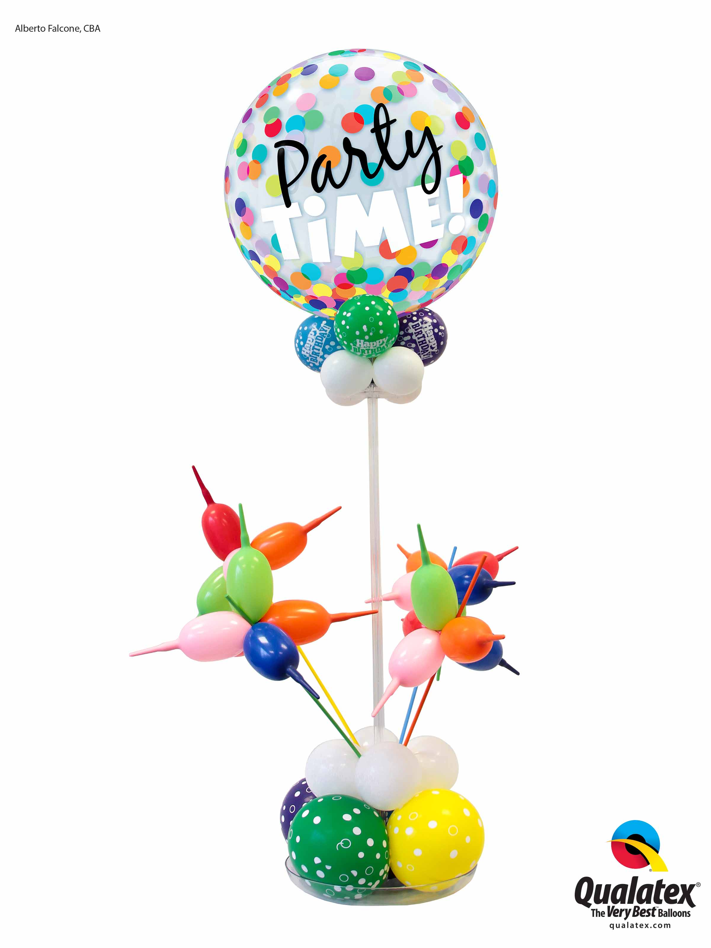 Party Time Centerpiece with Fireworks